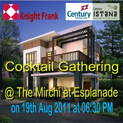 Knight Frank Cocktail Gathering for Istana Launch at The Mirchi on 19th Aug 2011