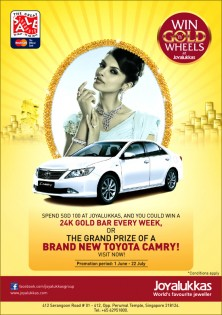 Win Gold n wheels at Joyalukkas