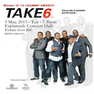 Take 6 live in concert 2015 in Singapore