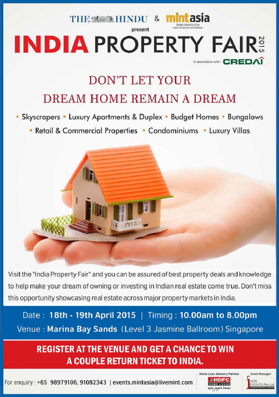 india property fair 2015 in singapore at marina bay sands 18th -19april