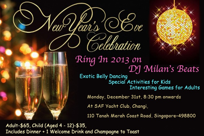 New year eve party 2013 in Singapore