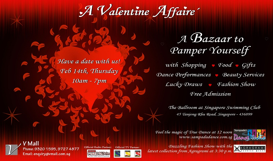 Celebrate your valentines day in Singapore at valentines affaire