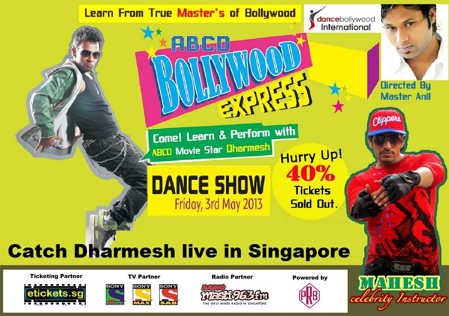 ABCD dance Express a show by dharmesh & team live in Singapore on May 3rd 2013