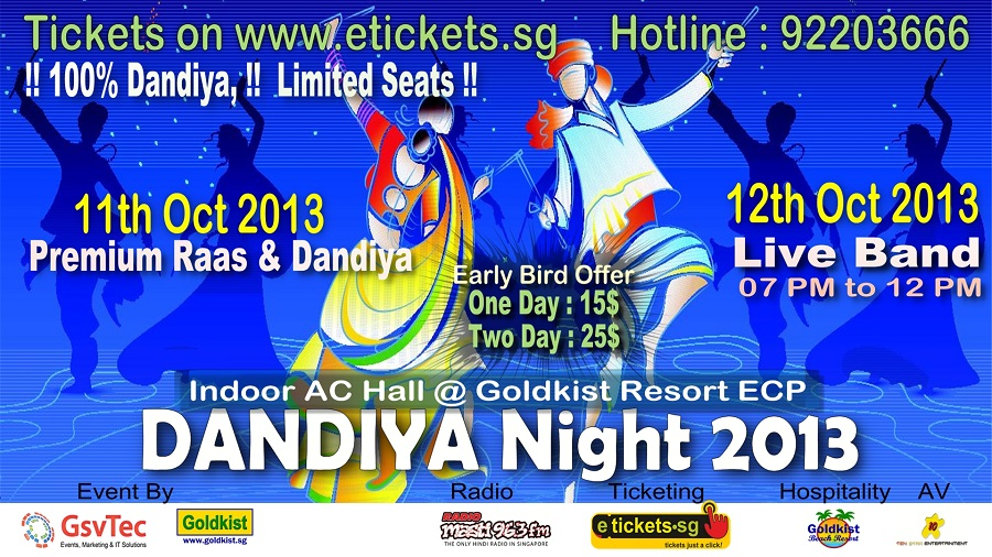 dandiya 2013 in Singapore on 11th & 12th oct 2013