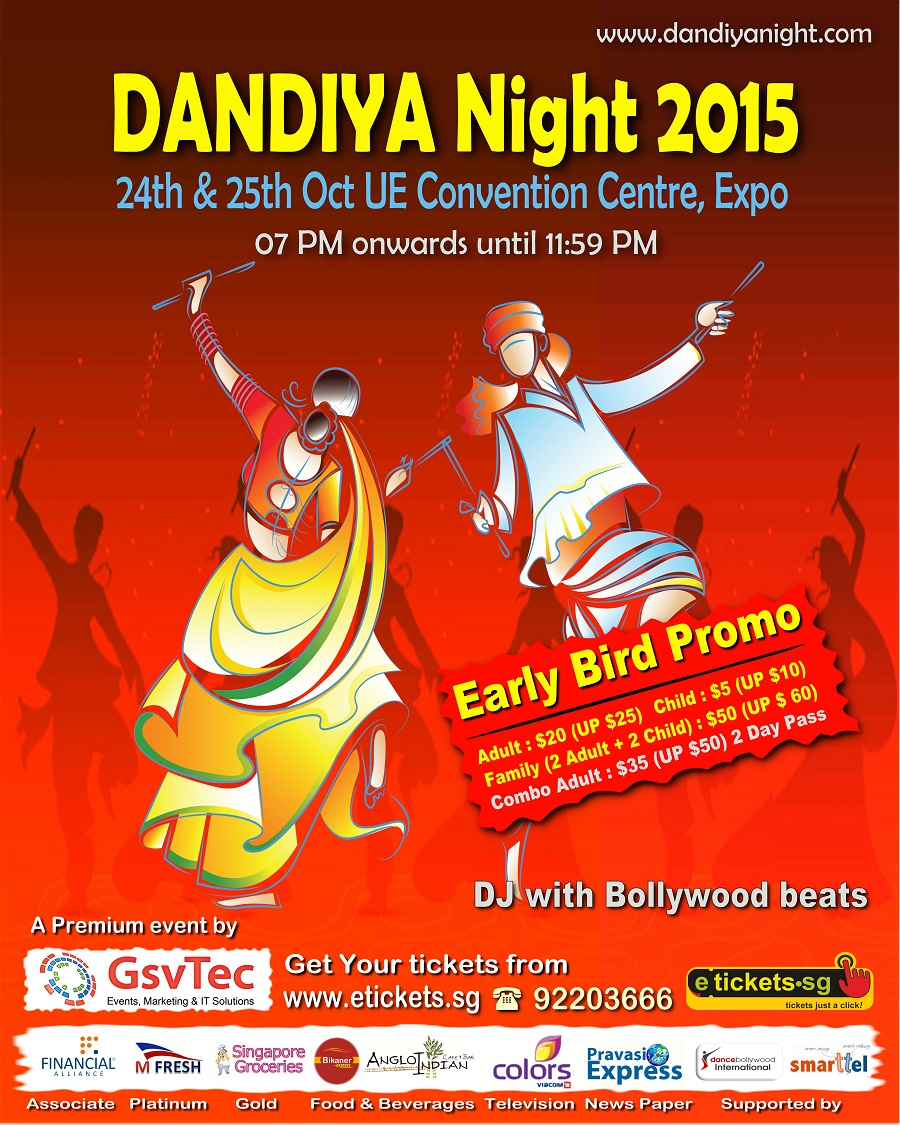 dandiya night 2014 in singapore a premium event
