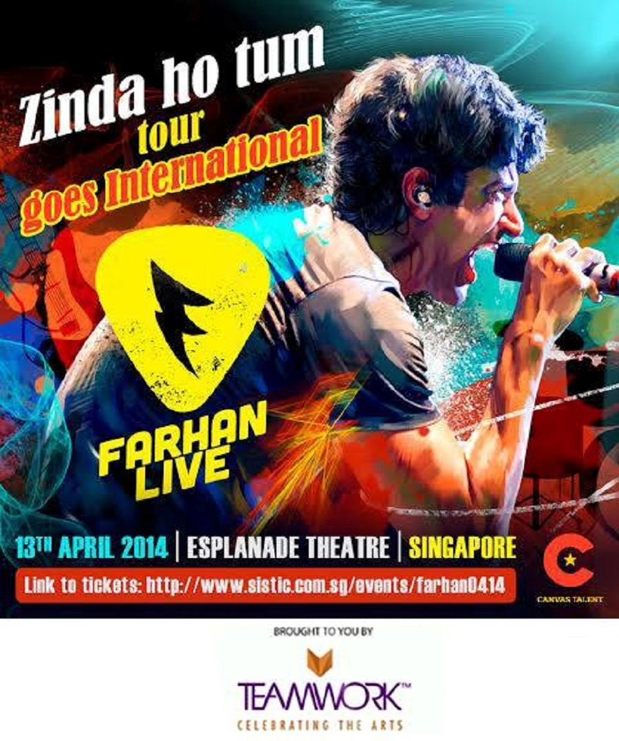 farhan akhtar live in Singapore 2014