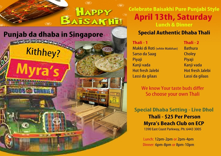 Happy Baisakhi 2013 in Singapore at myras beach club