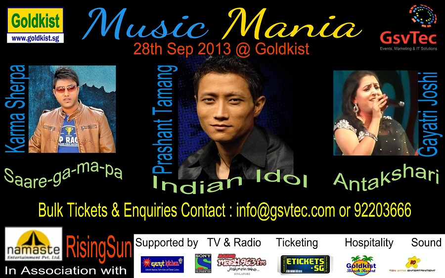 music mania an evening wth an indian idol sa re ga ma pa a& antakshari participants