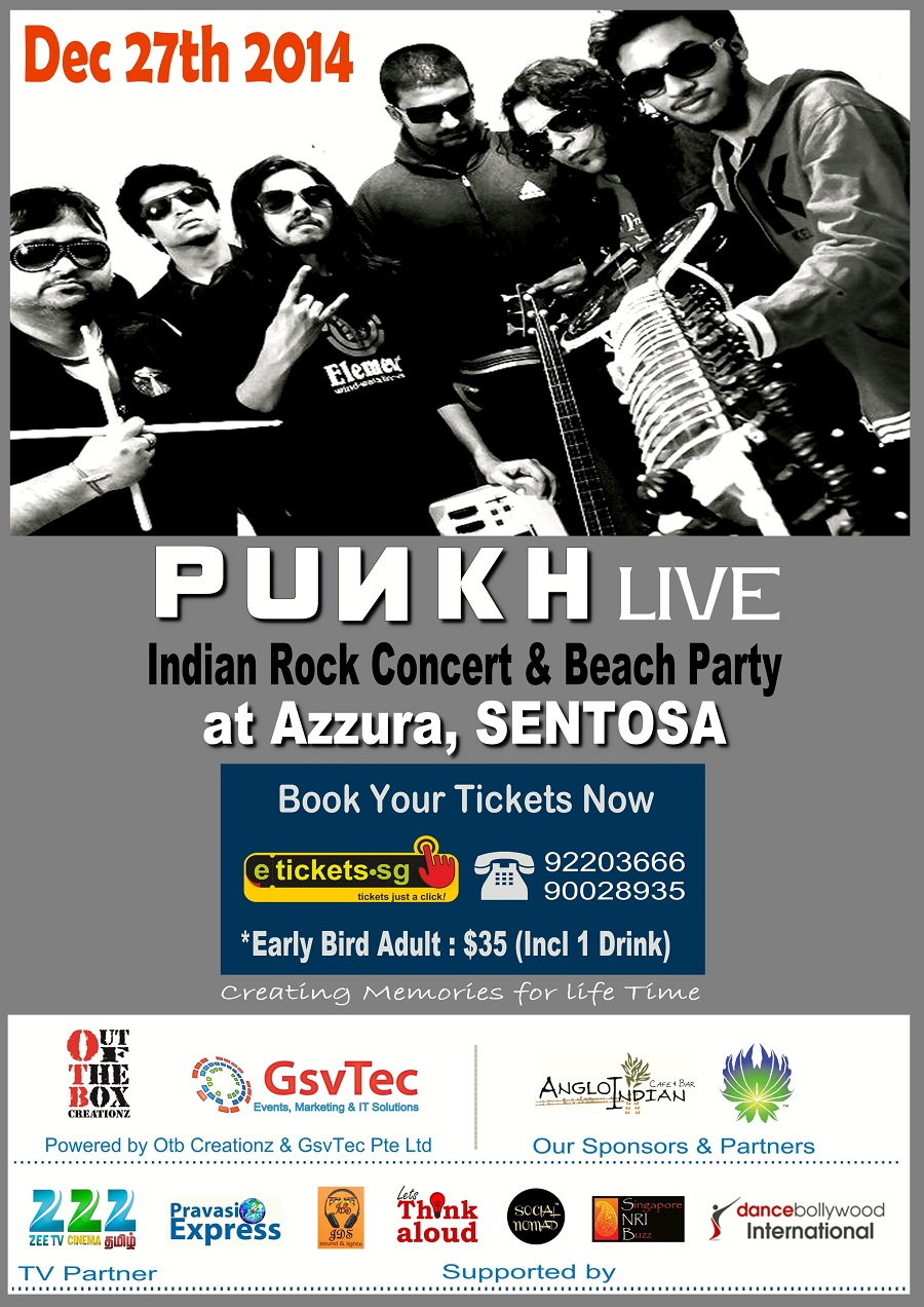 punkh rock concert in singapore on dec 27th 2014 at azzura beach club sentosa