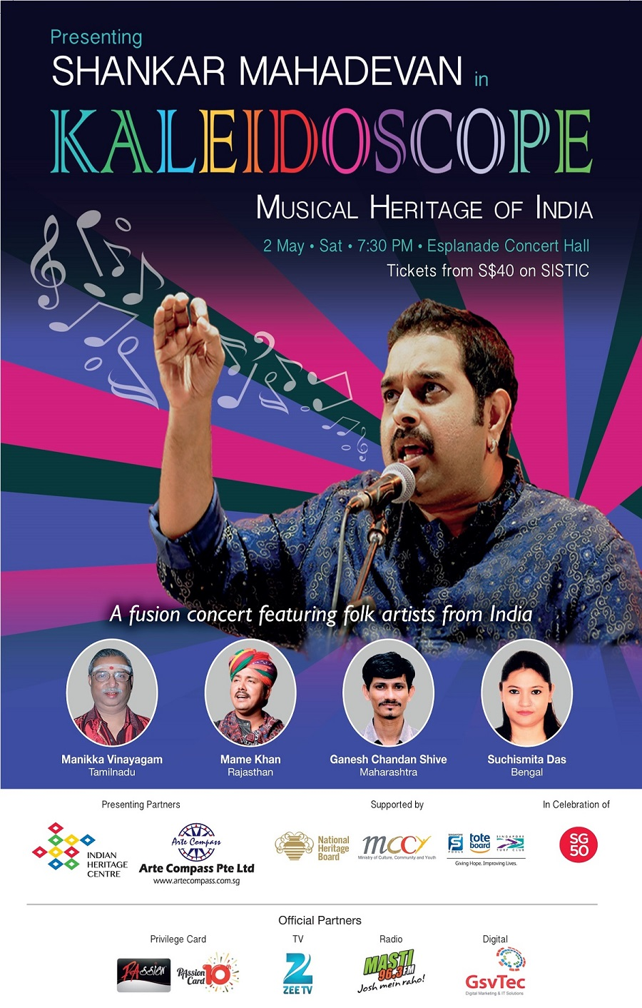 ''Kaleidoscope'' with Shankar Mahadevan  - colorful heritage of Indian music