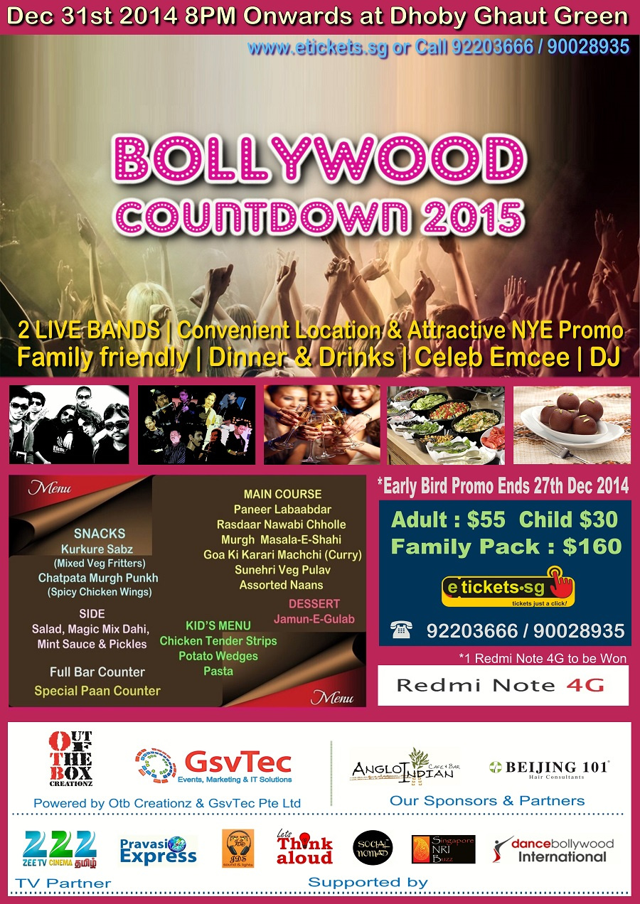 bollywood countdown party 2015 in singapore