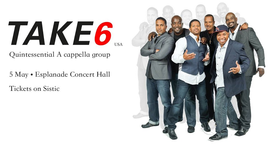 take 6 performs live in Singapore 5th May 2015